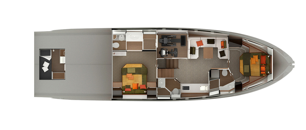 Lower deck (option with fitness cabin)