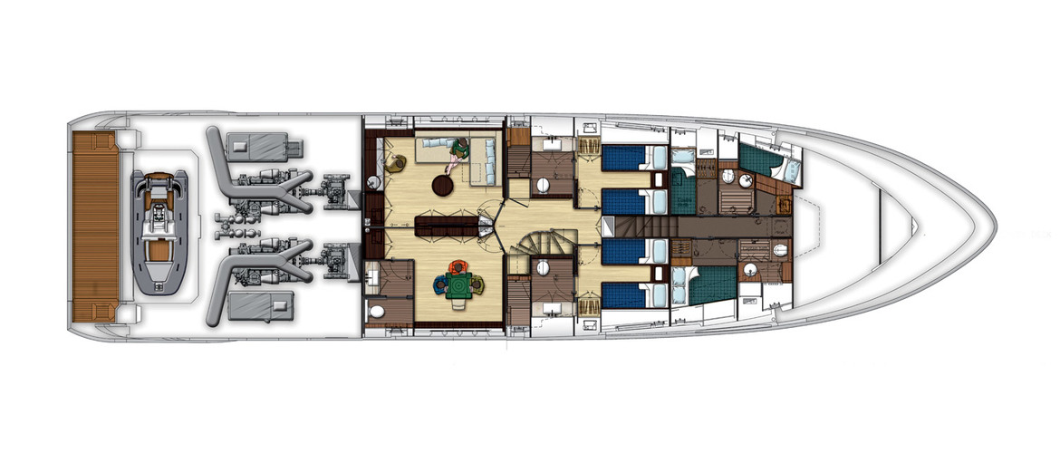 Lower deck (plan #1)