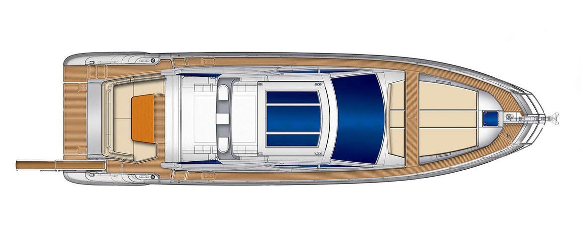 Plan on top (hard top closed) Azimut 55S