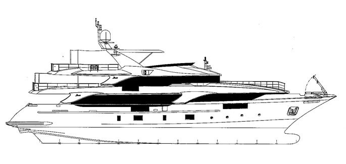Profile of Benetti Classic Supreme 131